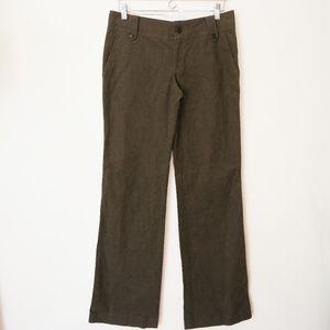 Club Monaco Olive Green Straight Leg Pants sz 6